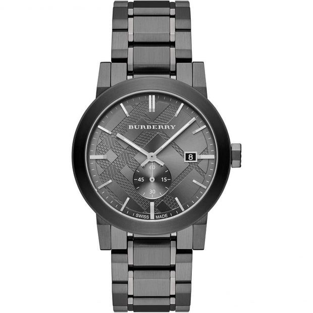 BURBERRY The City Gunmetal Dial Steel Men's Watch BU9902