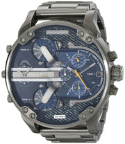 Diesel Men Blue Dial Stainless Steel Band Watch (DZ7331)