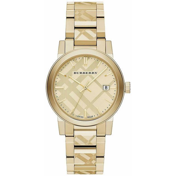 Burberry Unisex Swiss Gold Ion-Plated 38mm Stainless Steel Watch BU9038