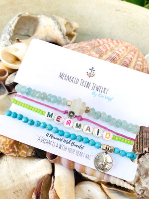 Beaded Beach Bracelet -Mermaid