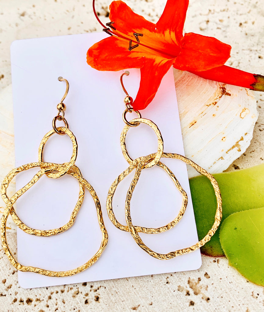 Gold Vermeil Abstract Chandelier Earrings