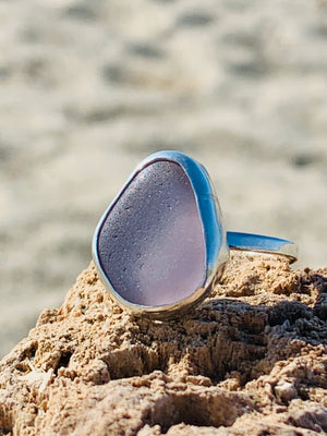 Sea Glass Ring- Lavender Size 9