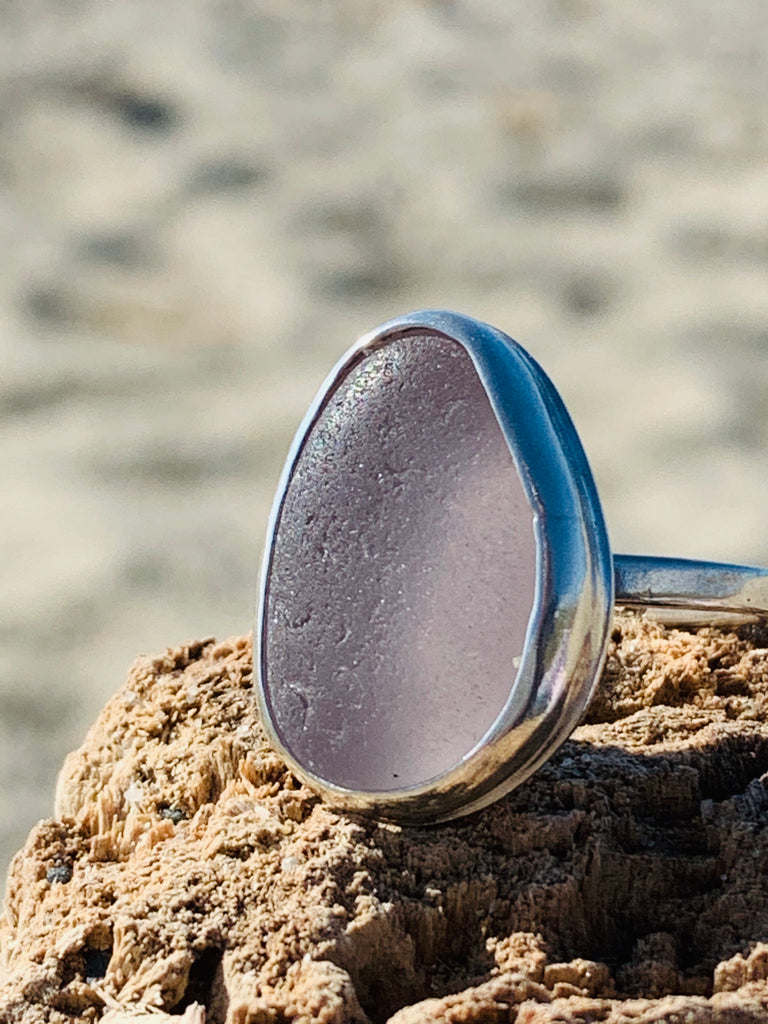 Sea Glass Ring- Lavender Size 10