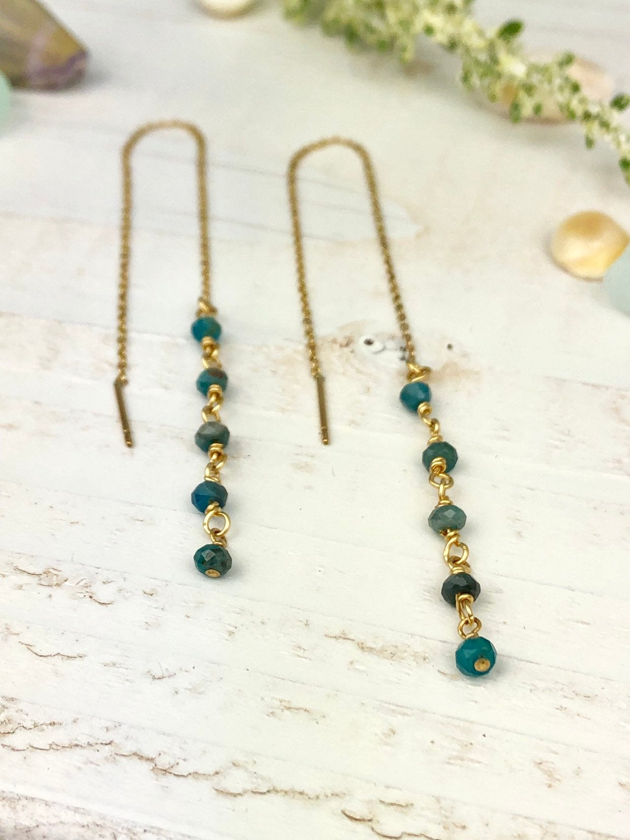 Gold Filled Threader Earrings Appatite Gemstone