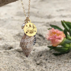 Cone Shell Necklace with Sand Dollar