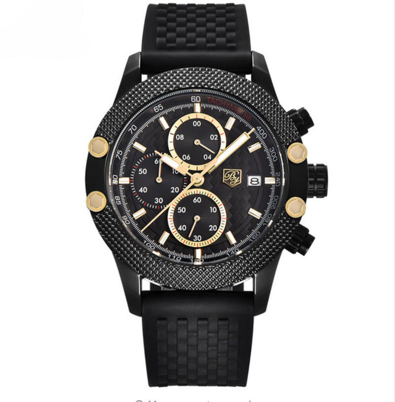 """GALILEO"" chronograph A-class luxury quartz gold watch"