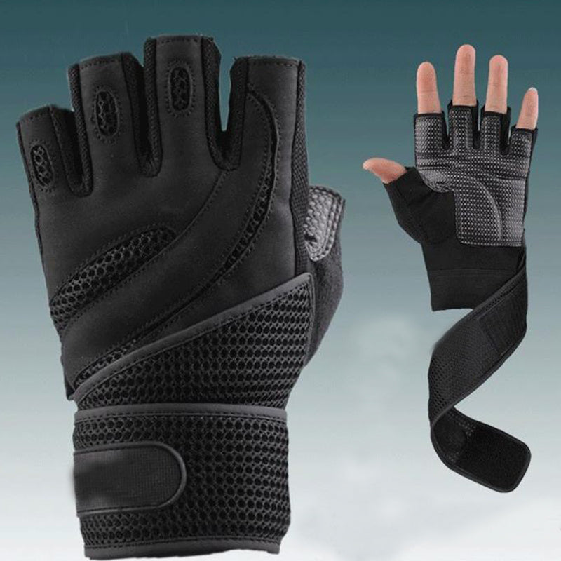 Breathable nano mesh wrist weightlifting gloves