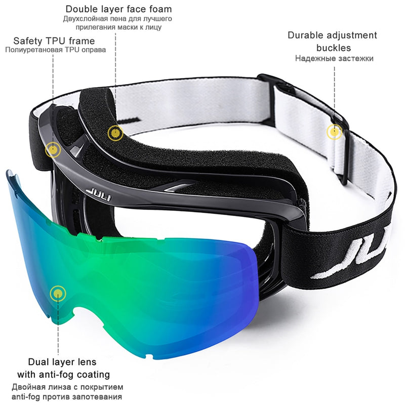 """JULI"" anti-fog uv400  goggles"