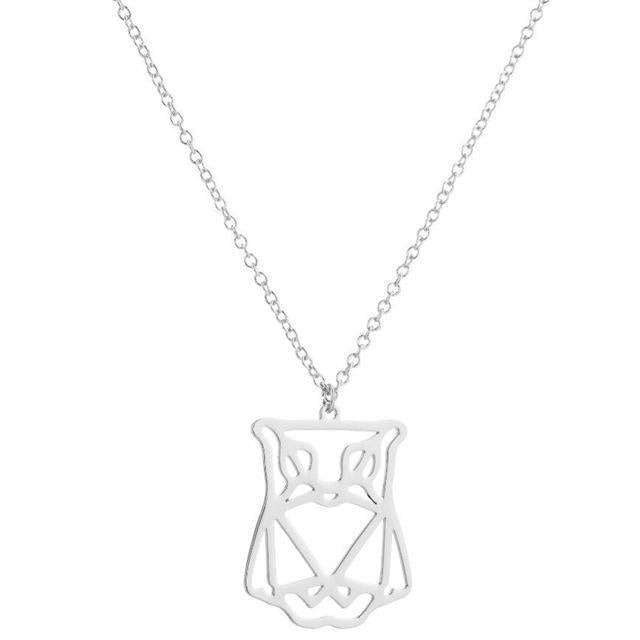 """DIAMOND EYES"" Deftones geometrical owl necklace"