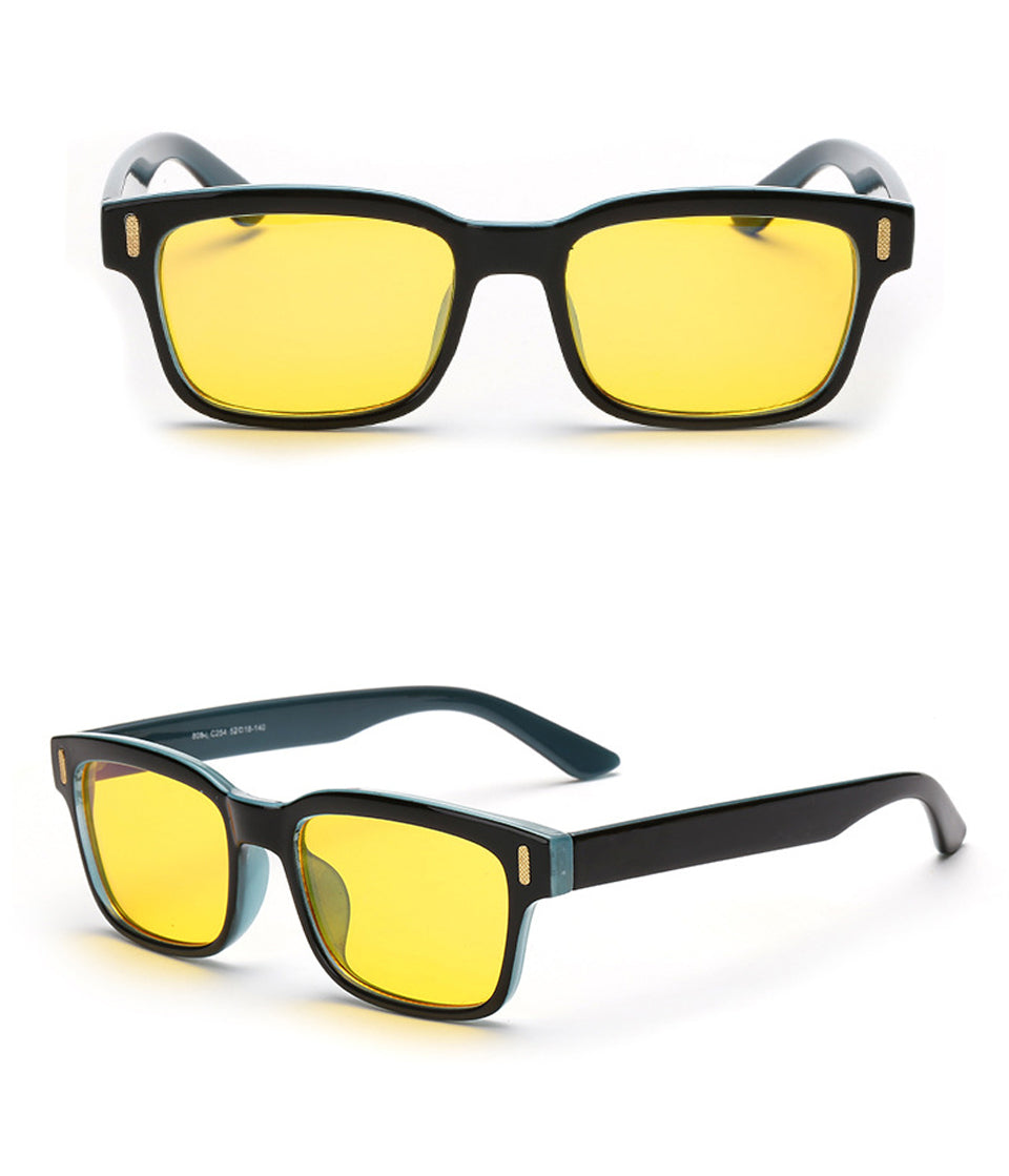 """HOLLIES"" Retro squared sun glasses/GAMING"