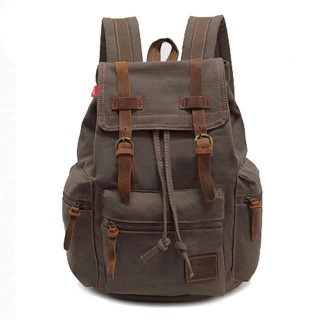 """KEEPER"" mens vintage canvas backpack"