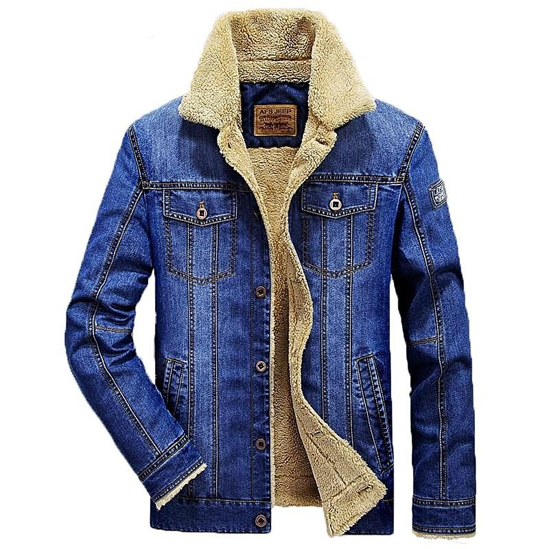 """COLT 45"" Denim jacket with sherpa"