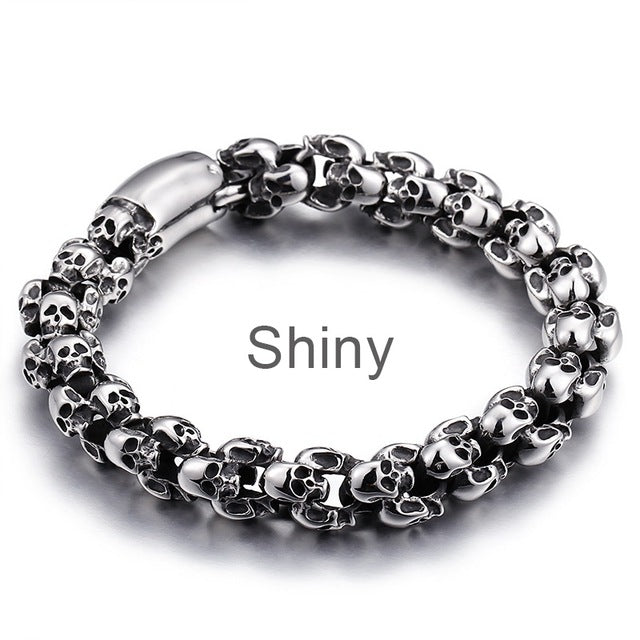 TOOMBA Stainless Steel Skull Link Chain