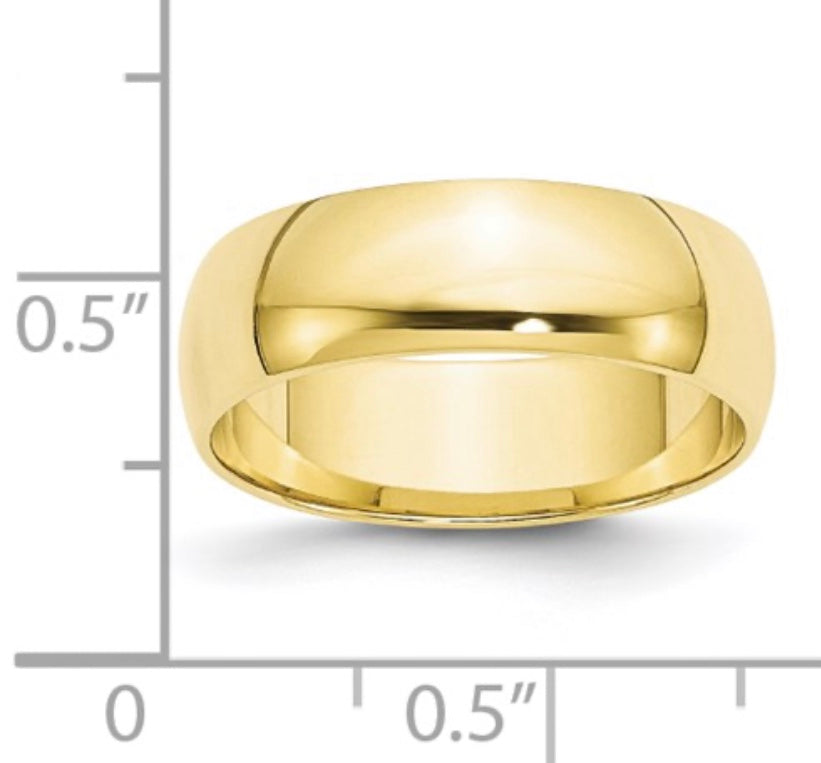 Wide Cigar Band Ring