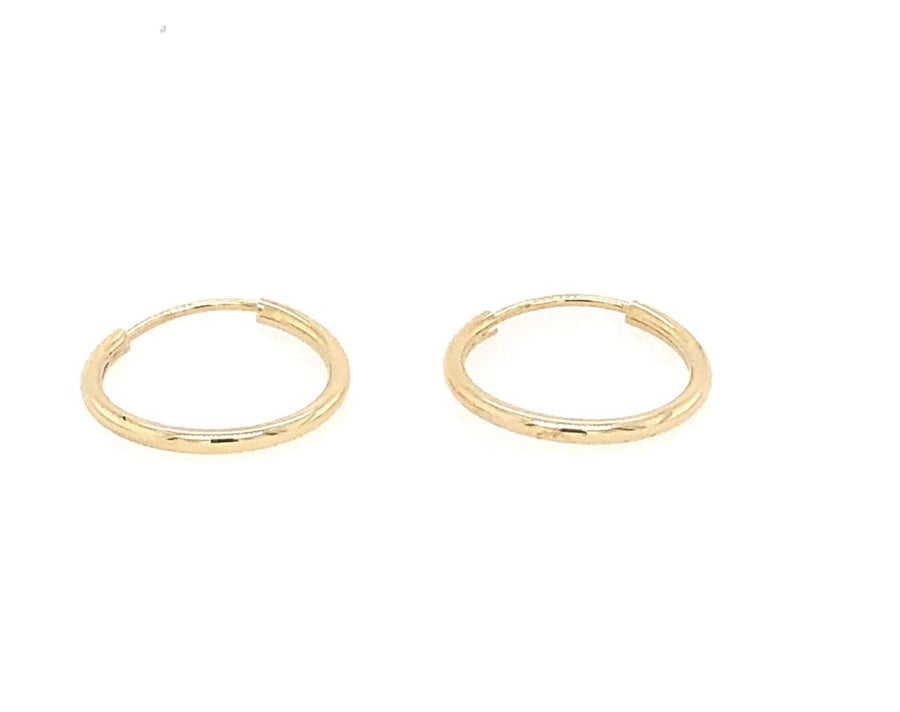 Medium Infinity Hoop Earrings 14k Yellow Gold Fashion Beauty Designer Jewelry Store Discount