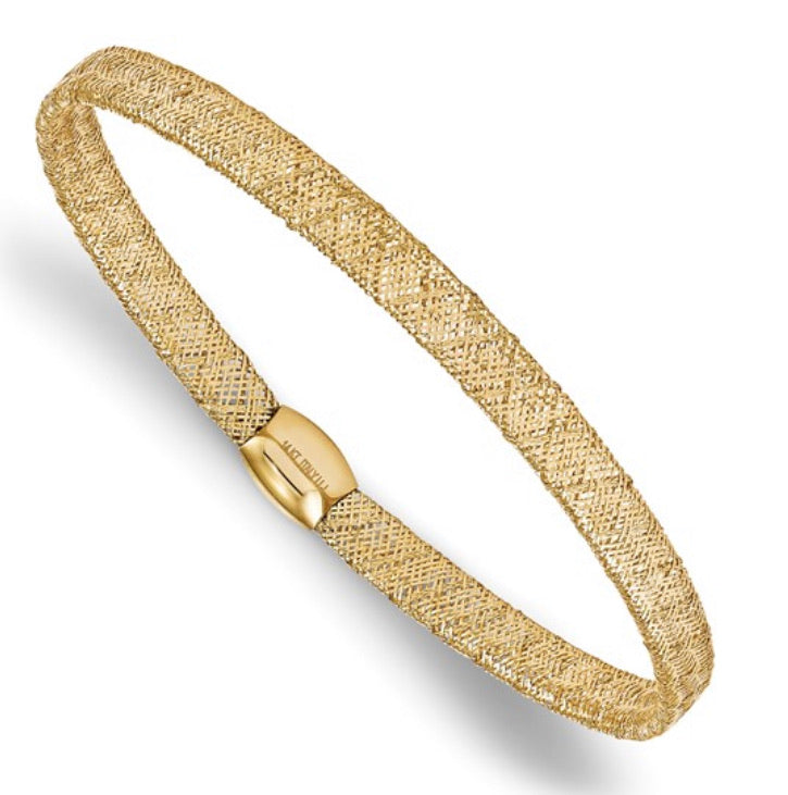 14k Gold Mesh XX Bangle Bracelet