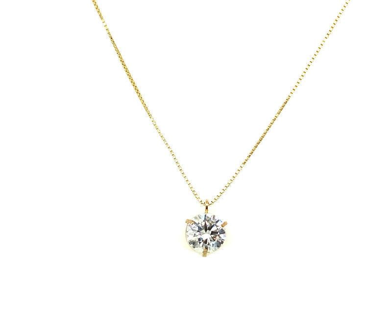 Box Chain Solitaire Pendant
