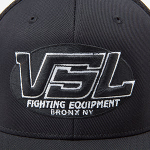 Black Flexfit Logo Hat Front - VSL Fighting