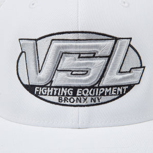 White Flexfit Logo Hat Front - VSL Fighting