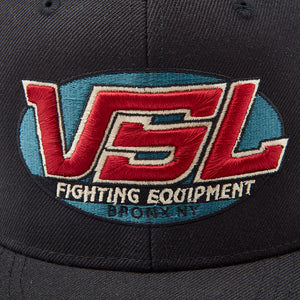 Black Snapback Logo Hat Front - VSL Fighting
