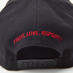 Black Snapback Logo Hat Back - VSL Fighting
