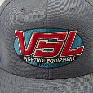 Grey Snapback Logo Hat Front - VSL Fighting