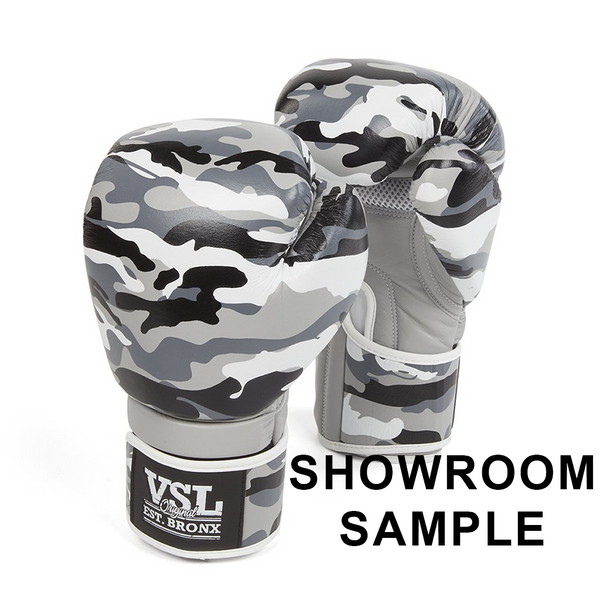 Showroom Sample VSL Leather Camo 14oz Gloves