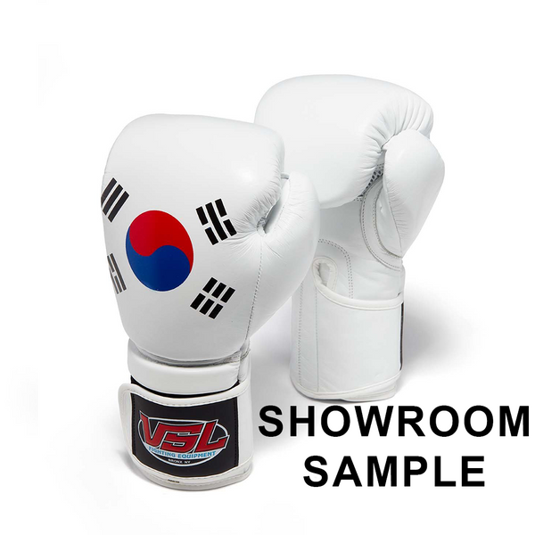 SHOWROOM SAMPLE SOUTH KOREA Pride Valle 4000 LEATHER Pro Boxing Gloves