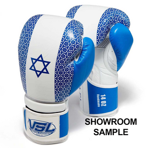 SHOWROOM SAMPLE ISRAEL Pride Valle 4000 LEATHER Pro Boxing Gloves