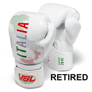 ITALY Pride Valle 4000  LEATHER Pro Boxing Gloves - RETIRED
