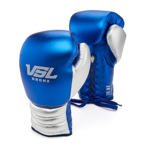 Valle 4000 Pro Boxing Gloves Blue / Silver - VSL Fighting