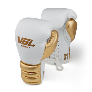 Valle 4000 Pro Boxing Gloves White / Gold - VSL Fighting
