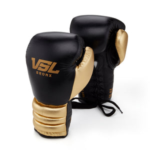 Valle 4000 Pro Boxing Gloves Black / Gold - VSL Fighting