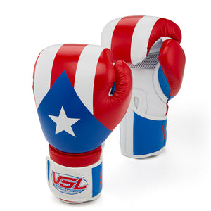 Limited Edition Puerto Rico Valle 4000 LEATHER Pro Boxing Gloves