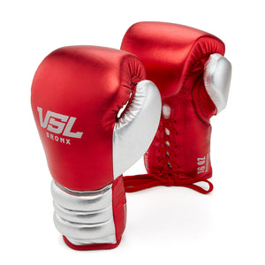 Valle 4000 Pro Boxing Gloves Red / Silver - VSL Fighting