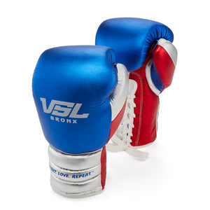 Valle 4000 Pro Boxing Gloves Red / Blue / Silver - VSL Fighting