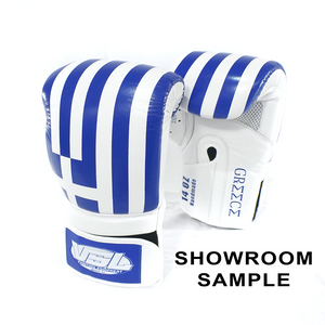 SHOWROOM SAMPLE GREECE Valle 4000 LEATHER Pro Boxing Gloves 14OZ