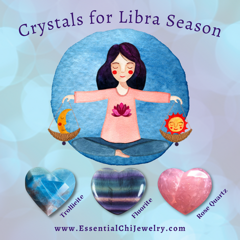 Crystals for Libra to help balance your mind and body. Don't let stress reduce your self worth, you are beautiful, capable and worthy!