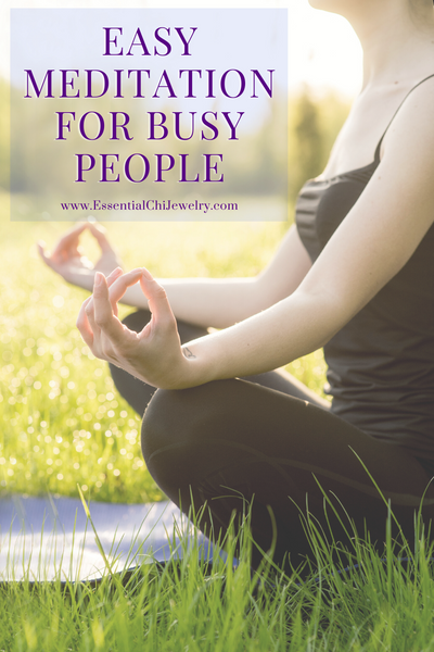 Easy Meditation for Busy People to help shift your energy fast and is super easy to follow.