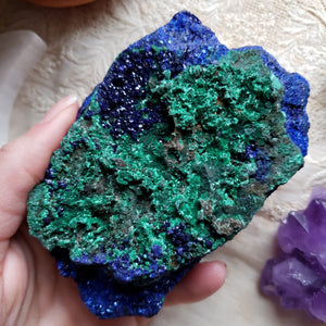 Raw Azurite with Malachite