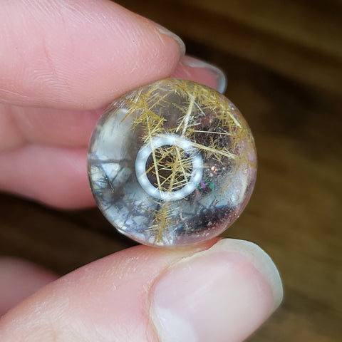 Rutilated Quartz Sphere 10b