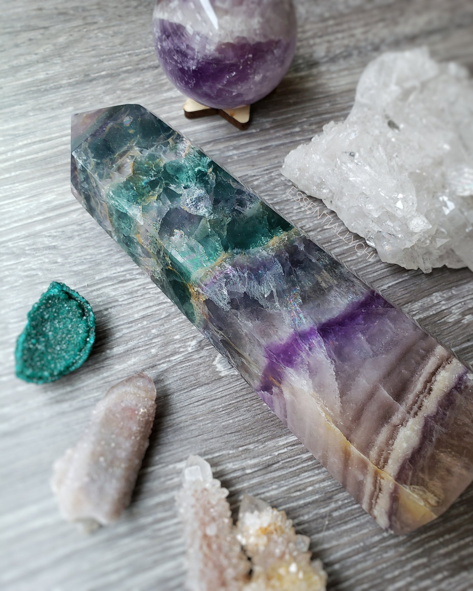 Rainbow Fluorite Tower - essentialchijewelry