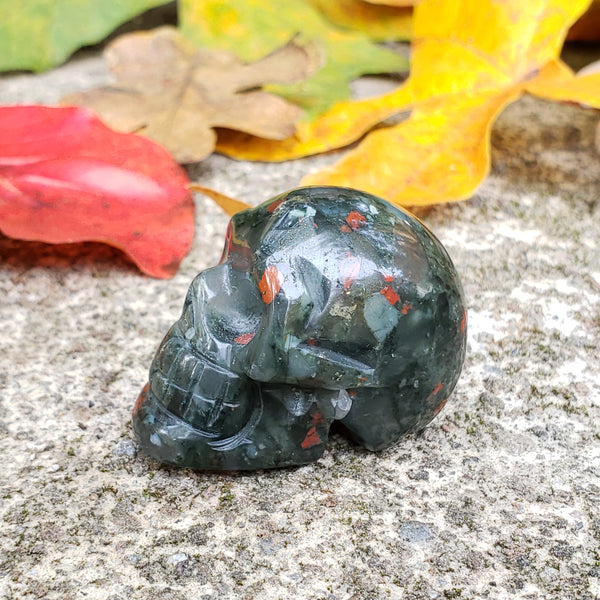 Bloodstone Mini Skull 13i - essentialchijewelry