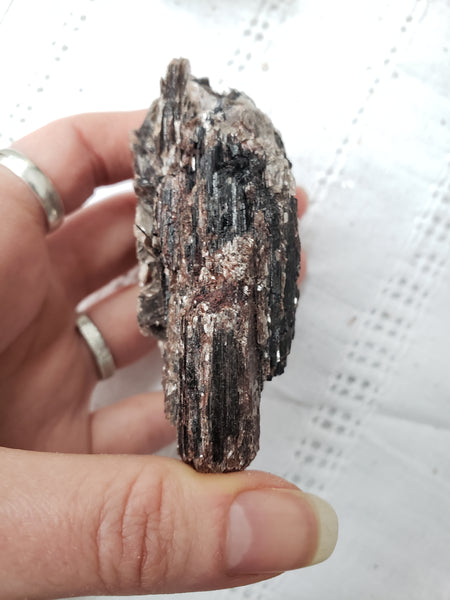 Raw Black Tourmaline with Mica 1a - essentialchijewelry
