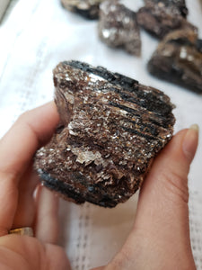 Raw Black Tourmaline with Mica 1b - essentialchijewelry
