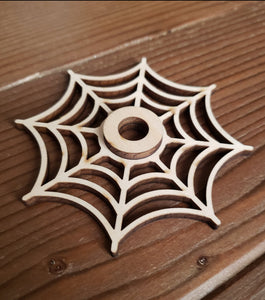 Wooden Spider Web Sphere Stand