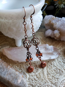 Goldstone Dangling Earrings