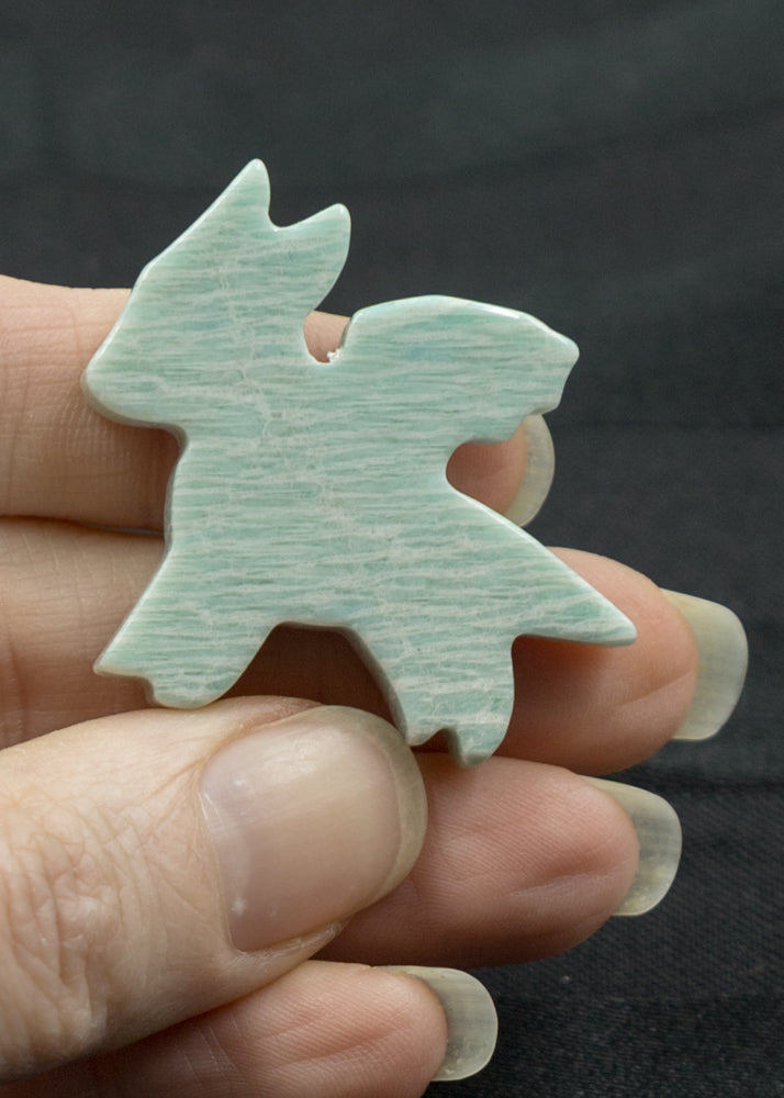 Amazonite Dragon Cabochon