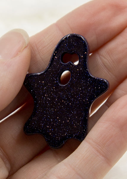 Blue Goldstone Ghost Cabochon