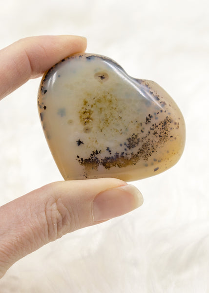 Dendritic Agate Heart 8DA